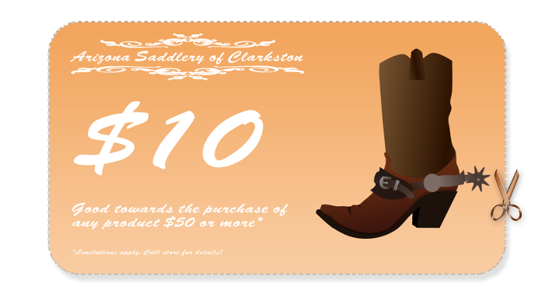 Arizona Saddlery $10 Coupon